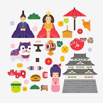 Verzameling van japans nieuwjaar