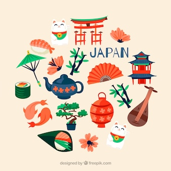 Verzameling van japanse elementen