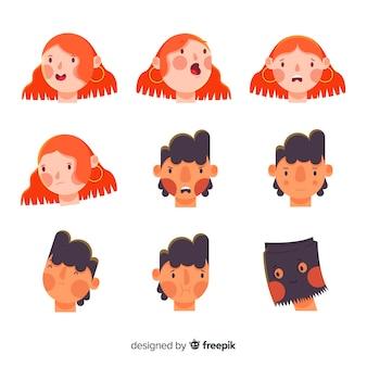 Verzameling van jongeren emoties