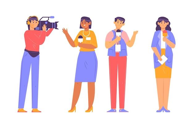 Verzameling van journalistenberoep