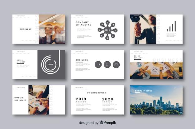 Verzameling van kaarten voor bedrijfspresentatie