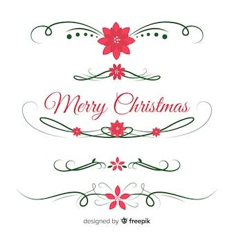 Verzameling van kerst eenvoudige slingers