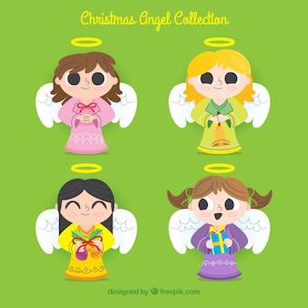 Verzameling van kerst engelen meisjes