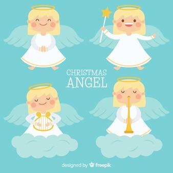 Verzameling van kerst engelen