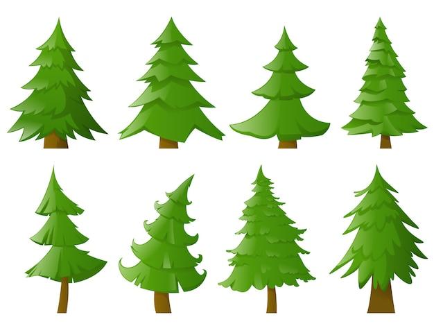 Verzameling van kerstbomen
