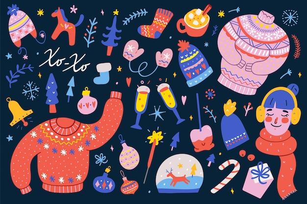 Verzameling van kerstmis clip arts