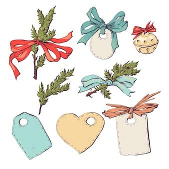 Verzameling van kerstmis en nieuwjaar grafische elementen