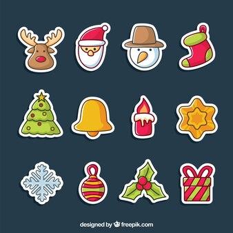 Verzameling van kerstmis stickers