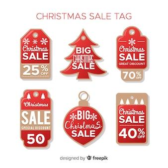 Verzameling van kerstmis verkoop tags
