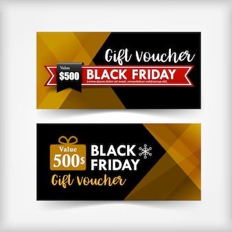 Verzameling van kerstmis zwarte vrijdag cadeau voucher web tag banner promotie vector illustra