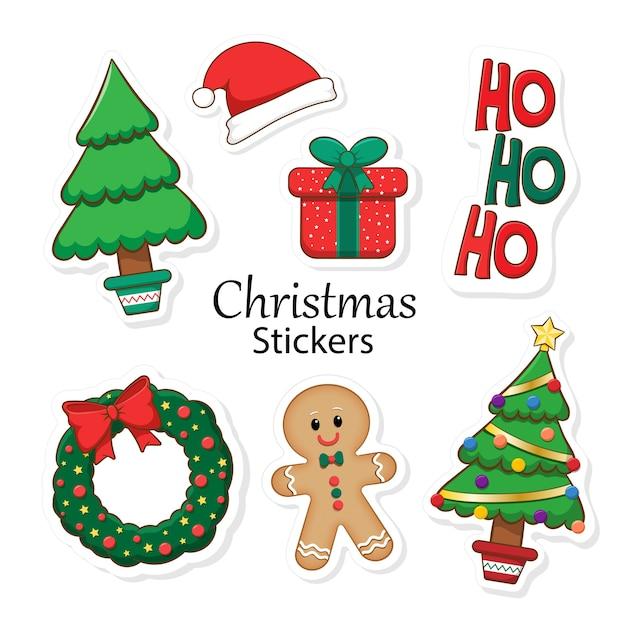 Verzameling van kerststickers