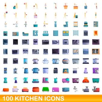 Verzameling van keuken iconen geïsoleerd op wit