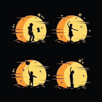 Verzameling van kind dromen logo