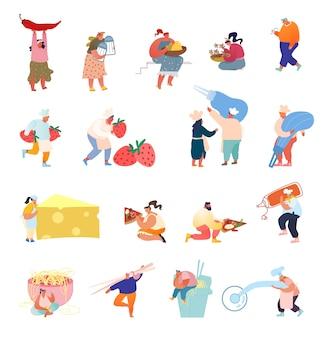 Verzameling van kleine karakters