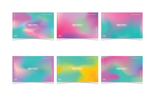 Verzameling van kleurrijke abstracte achtergrond