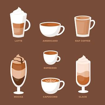 Verzameling van koffiesoorten