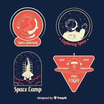 Verzameling van kosmische stickers