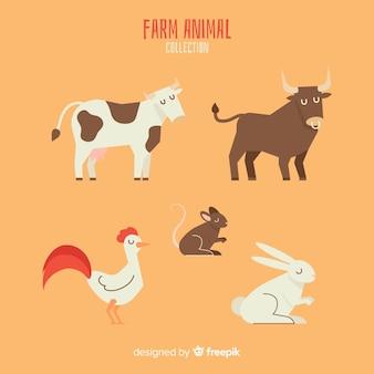 Verzameling van landbouwhuisdieren