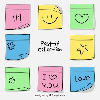 Verzameling van leuke post-it