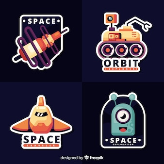Verzameling van leuke ruimtestickers