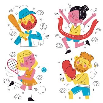 Verzameling van leuke sportstickers