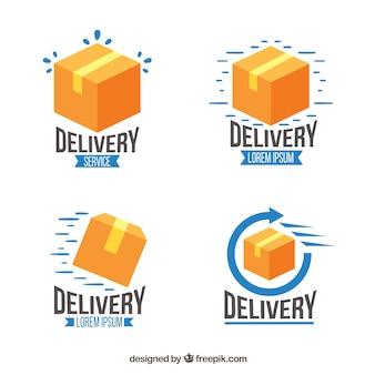 Verzameling van levering logo sjablonen