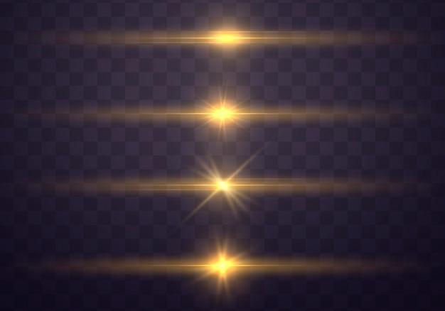 Verzameling van lichte abstracte gloeiende lichten