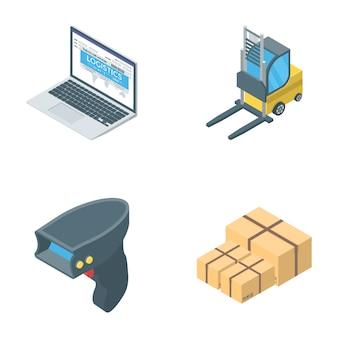 Verzameling van logistiek pictogrammen