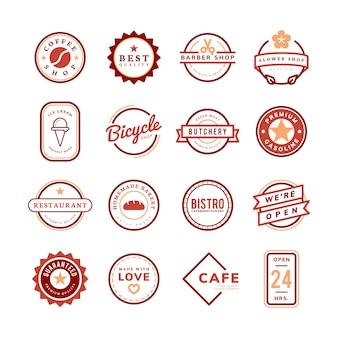 Verzameling van logo en badge vectoren