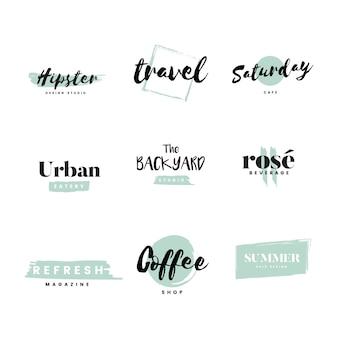 Verzameling van logo's en branding vector
