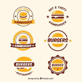 Verzameling van logo's in vintage stijl