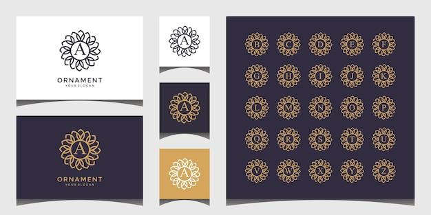 Verzameling van logo's van lettertekens