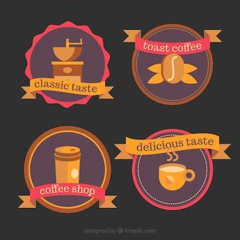 Verzameling van logo's voor koffiewinkels