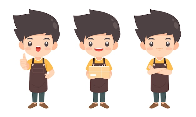 Verzameling van man karakter in veel vormen