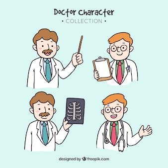 Verzameling van mannelijke arts tekens