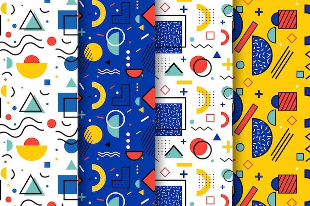 Verzameling van memphis patroon