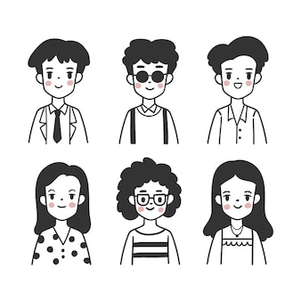 Verzameling van mensen avatars