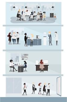 Verzameling van mensen uit het bedrijfsleven