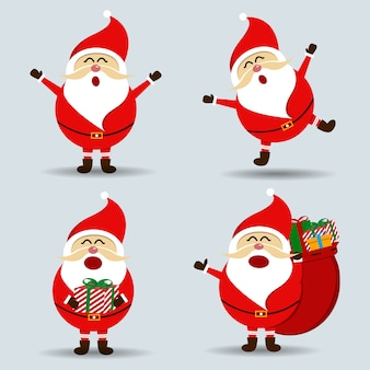 Verzameling van merry christmas santa claus
