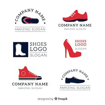 Verzameling van mode schoen logo's