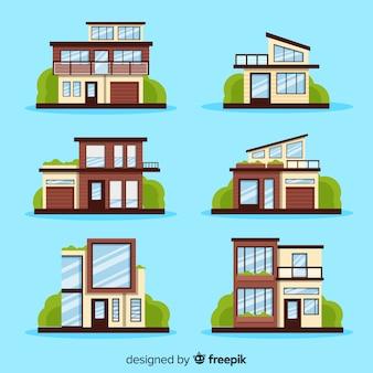 Verzameling van moderne huizen