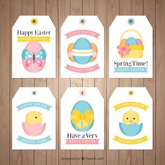 Verzameling van mooie happy easter labels