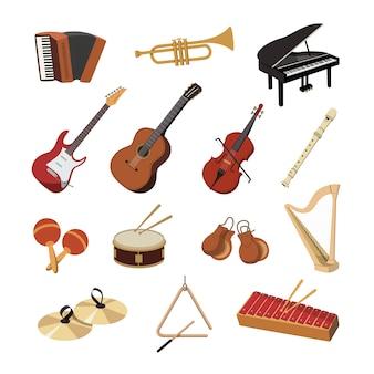 Verzameling van muziekinstrumenten