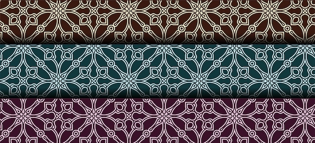 Verzameling van naadloze decoratieve etnische patronen
