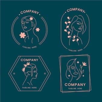 Verzameling van natuur cosmetica-logo