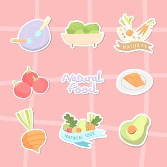 Verzameling van natuurlijk voedsel
