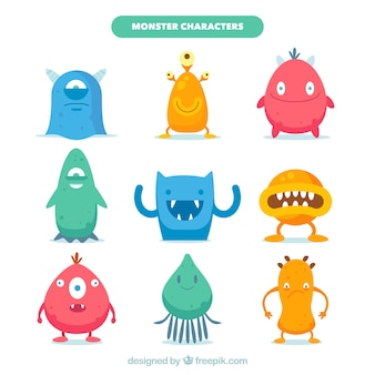 Verzameling van negen monsters