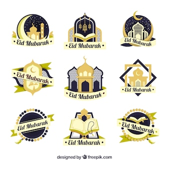 Verzameling van negen ramadan-labels