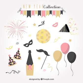 Verzameling van nieuwe jaar feest element