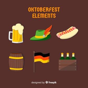 Verzameling van oktoberfest-elementen